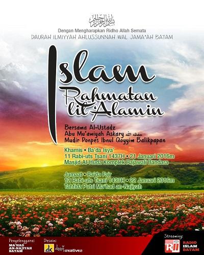 [AUDO]: Islam Rahmatan Lil'alamin Al Ustadz Abu Mu'awiyah Askary