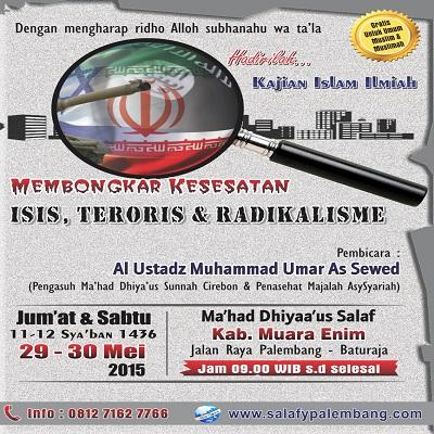 [AUDIO]: Ustadz Muhammad Umar as Sewed – Membongkar Kesesatan ISIS, Teroris dan Radikalisme