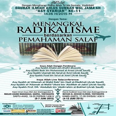 [AUDIO]: Dauroh Asy Syariah 11 – Menangkal Radikalisme Berdasarkan Pemahaman Salaf