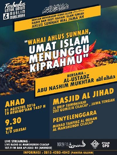 [AUDIO]: Wahai Ahlus Sunnah, Umat Islam Menunggu Kiprahmu