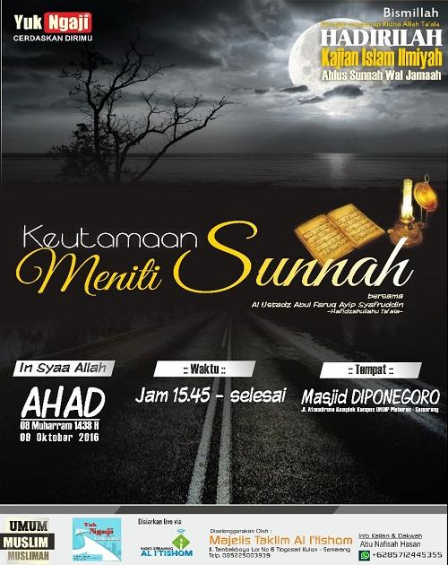 [AUDIO]: Keutamaan Meniti Sunnah