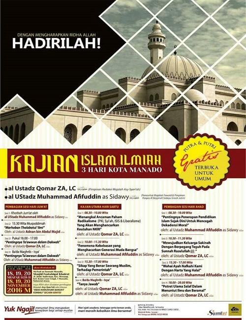 [AUDIO]: Kajian Islam Ilmiah Kota Manado