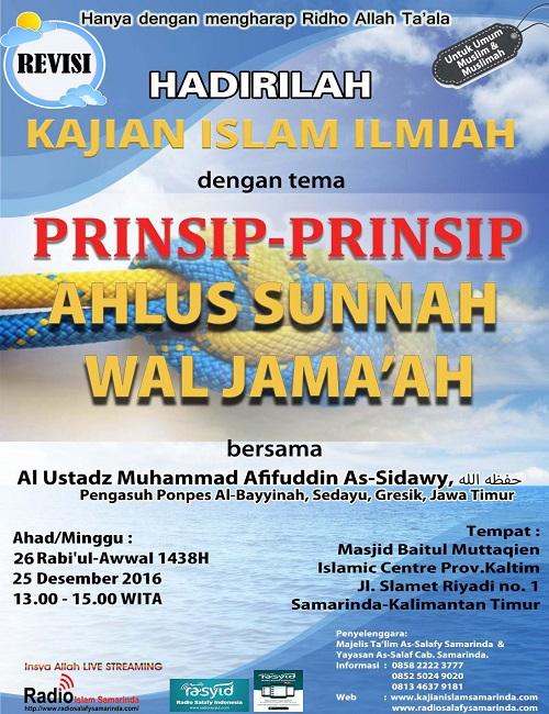 [AUDIO]: Prinsip-prinsip Ahlussunnah Wal Jama'ah
