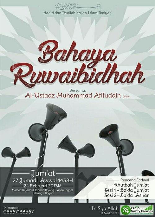 [AUDIO]: Bahaya Ruwaibidhah