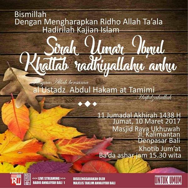 [AUDIO]: Sirah Sahabat Umar Ibnul Khattab Radhiyallahu 'Anhu