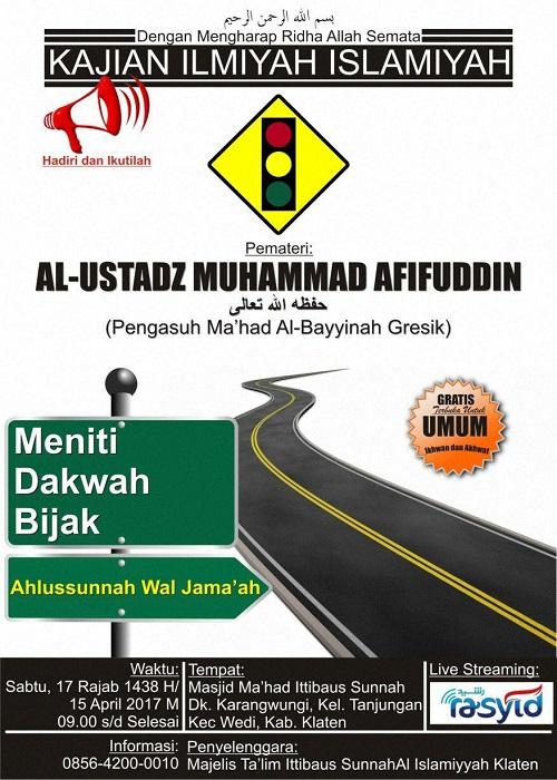 [AUDIO]: Meniti Dakwah Bijak Ahlussunnah wal Jama'ah