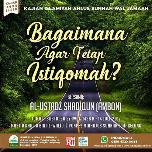 [AUDIO]: Bagaimana Agar Tetap Istiqomah?
