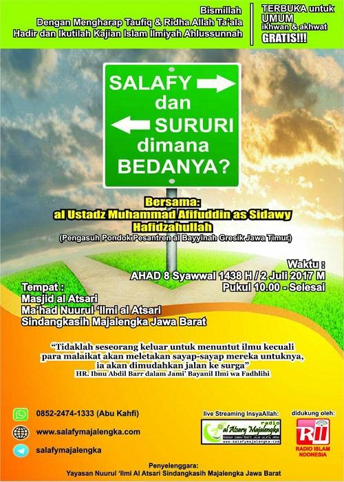 [AUDIO]: Salafy dan Sururi Dimana Bedanya?