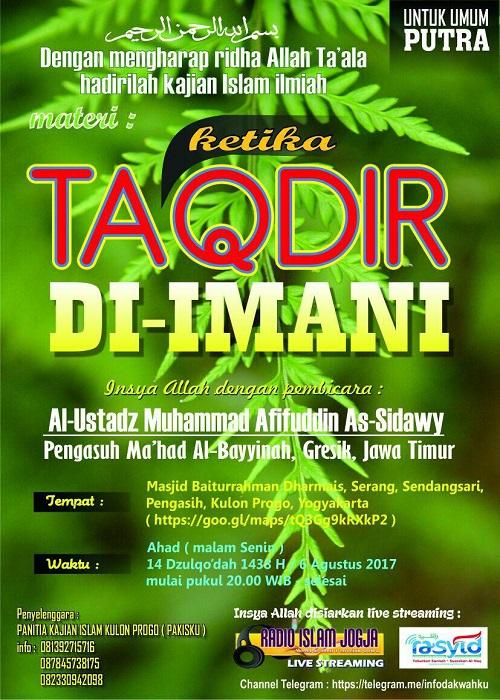 [AUDIO]: Ketika Taqdir di Imani