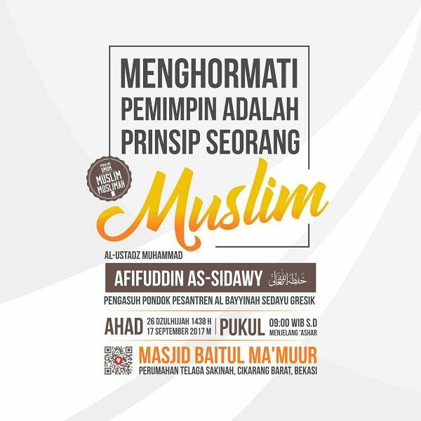 [AUDIO]: Menghormati Pemimpin Adalah Prinsip Seorang Muslim