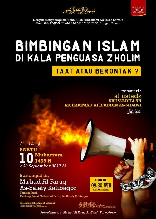 [AUDIO]: Bimbingan Islam Dikala Penguasa Zalim