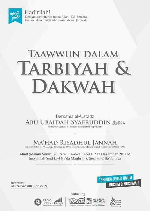 [AUDIO]: Ta'awun dalam Dakwah dan Tarbiyah
