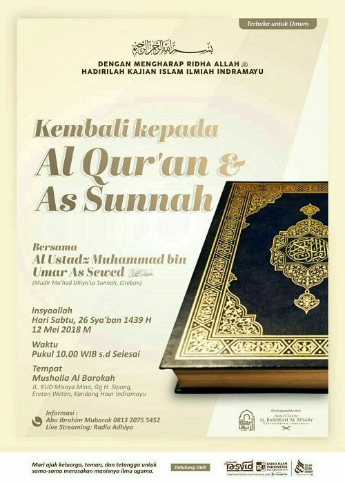 [AUDIO]: Kembali Kepada al-Quran dan as-Sunnah