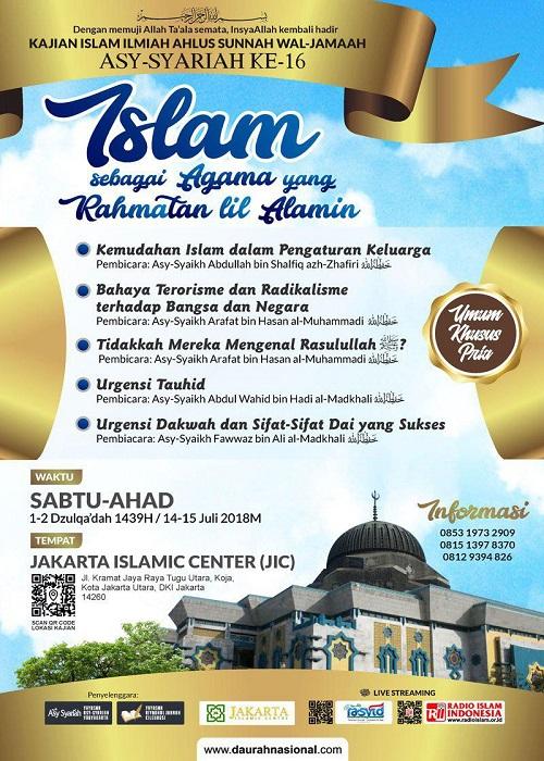 [DAUROH NASIONAL]: Jakarta – Islam Sebagai Agama Yang Rahmatan Lil Alamin